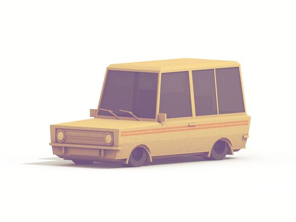 Low-Poly [Vehicles] by Timothy J. Reynolds, via Behance