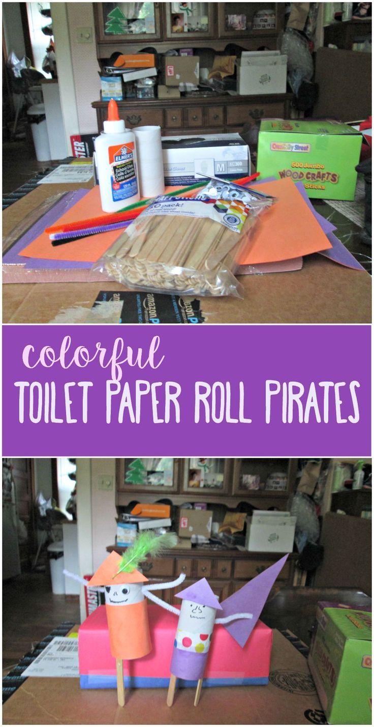 Pirate crafts for toddlers - Celebrate Talk Like A Pirate Day With This Fun And Colorful Toilet Paper Roll Pirate Craft
