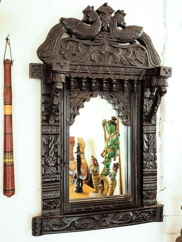 carved wooden peacock mirror bringing it all back home - Back Home Furniture