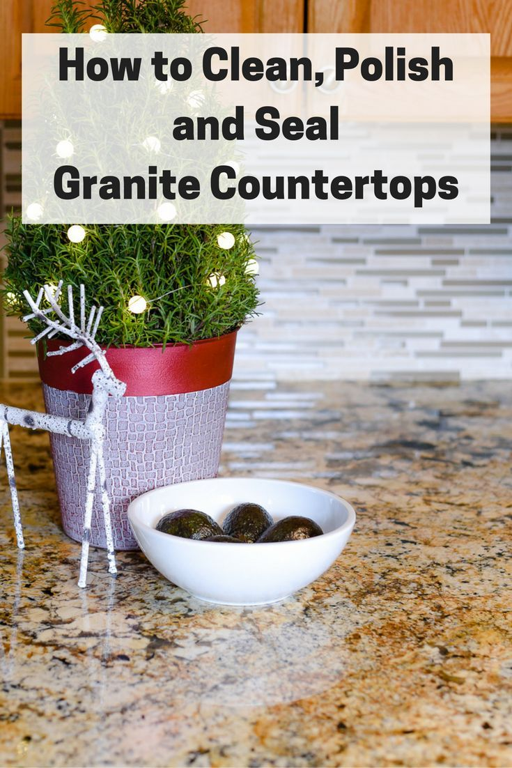 Don't be intimidated when it's time to clean, seal or polish your granite countertops. It's actually easy to do. Click the pic to see how to keep your granite looking great. #ad