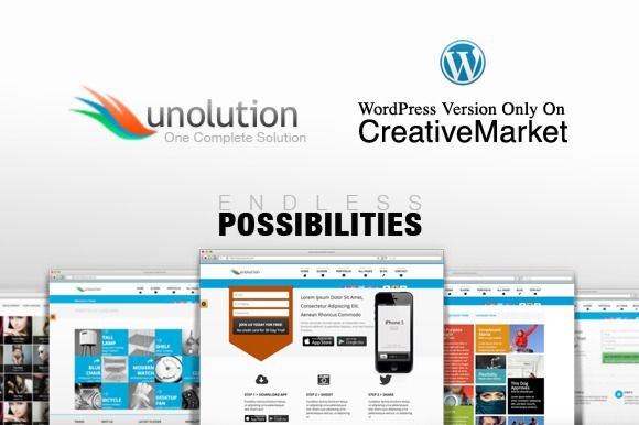 I just released UNOLUTION Responsive WordPress Theme on Creative Market.