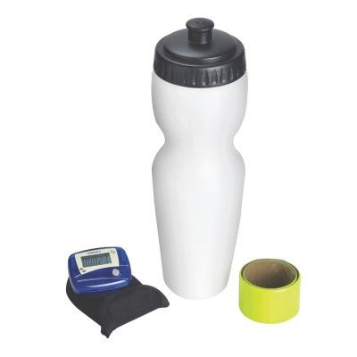 It's time to get fit! The next time you hit the running track, all you need to take along is this sports kit from XINDAO (Holland). A 0.6 litre sipper comes with a little pouch for your money and keys that can be attached to your shoe; and that's not all – it even has a reflective armband and a step counter to track your run. All of this comes neatly packed in a sleek black box, making it a great gift for fitness freaks!  http://www.giftwrapped.in/travel-and-outdoor/water-bottle/run-time