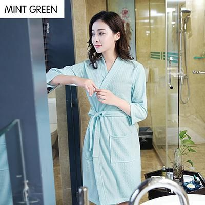 New Women Summer Cotton Towel Kimono Bath Robe Bridesmaid Robes ...