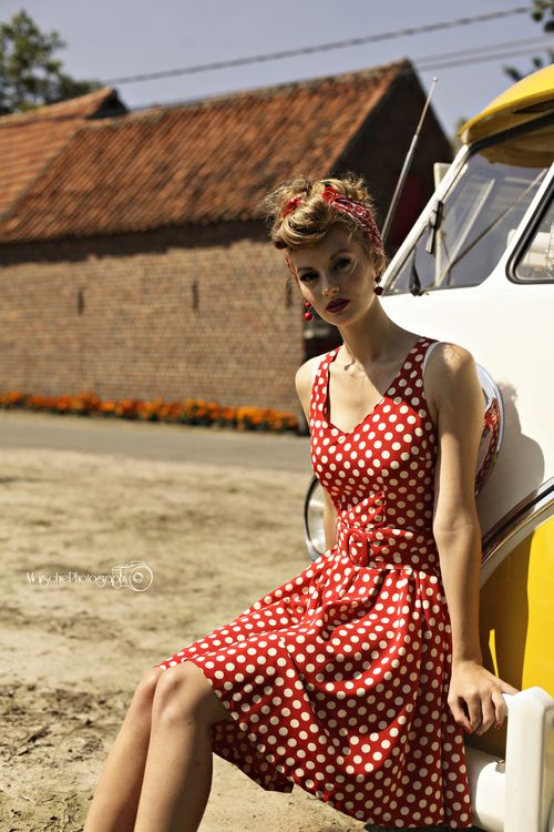 polka dots & retro hair ♥ vintage summer
