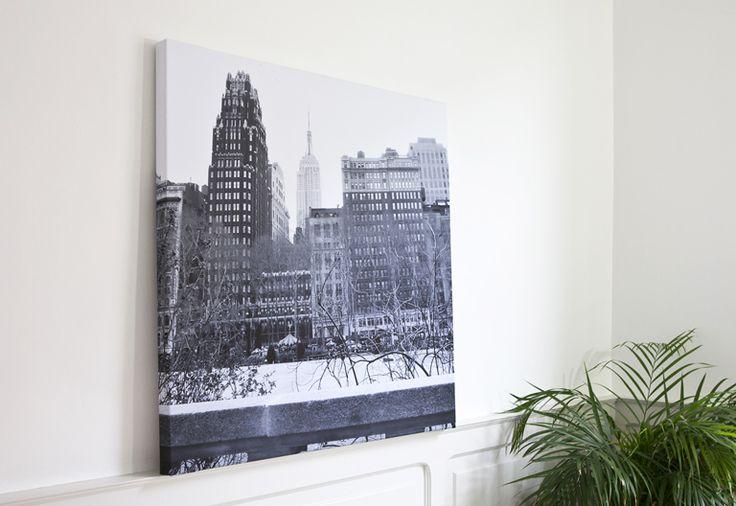 Ontwerp een fotocanvas deluxe om thuis op te hangen