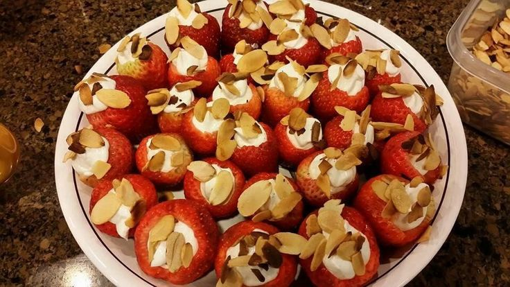 Yogurt Stuffed Strawberries  A healthier alternative to your typical strawberry cheescake but just as delicious! For recipe go http://www.mydietfreelife.com/fat-burning-snacks
