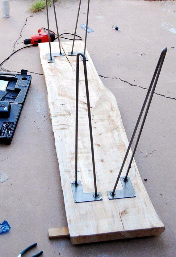 Set of four Hairpin table legs, Slight angle (flar…