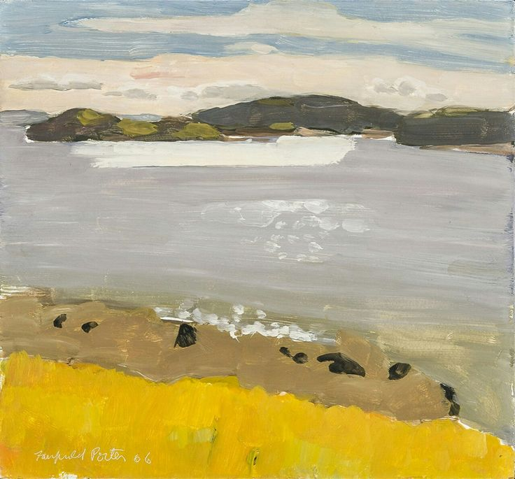 Fairfield Porter (USA 1907-1975) Morning Sunlight (1966) oil on board 14 x 15 in.