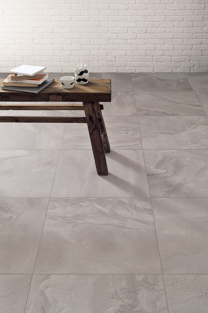 Horizon | A #soft, #elegant #grain for this imagined #stone, half way between fantasy and reality. The #porcelain #stoneware makes its #delicate mark on this stone marked by marble-like #elegance.