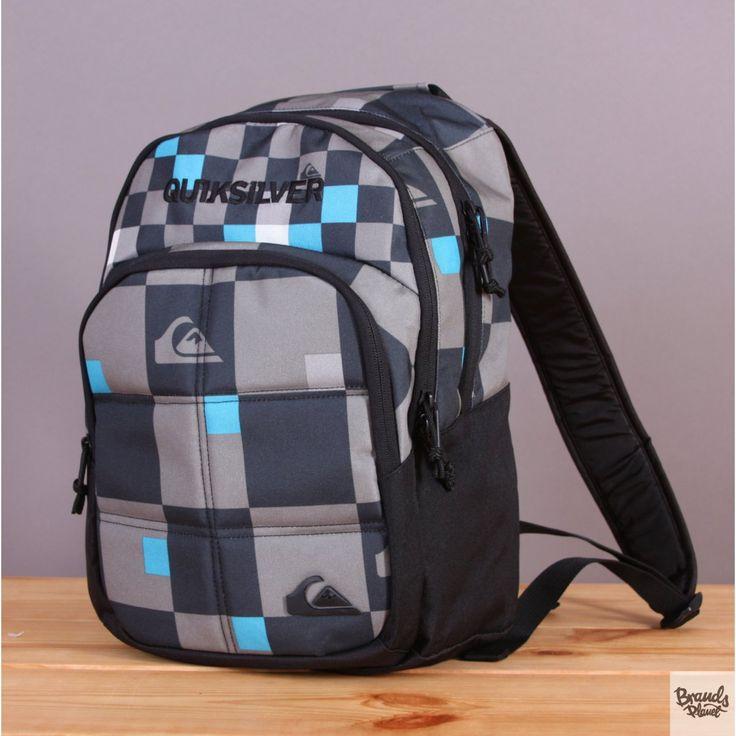 Mały plecak szkolny, turystyczny 20l Quiksilver Burst Checks Yardage Big Size Gunsmoke / www.brandsplanet.pl / #quiksilver