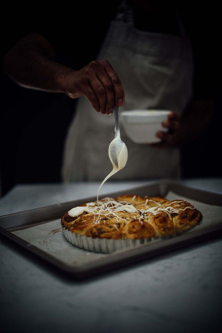masala chai fig jam buns | A Brown Table