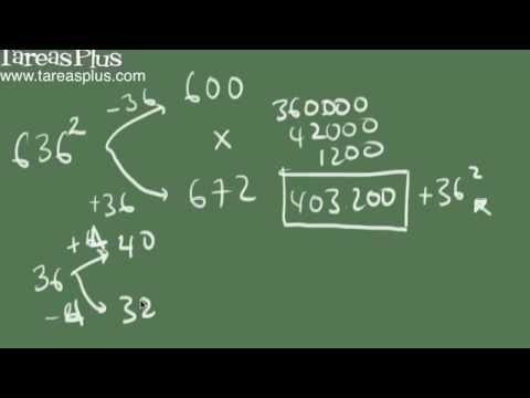 Método para encontrar el cuadrado de cualquier número de tres cifras sin necesidad de utilizar una calculadora.