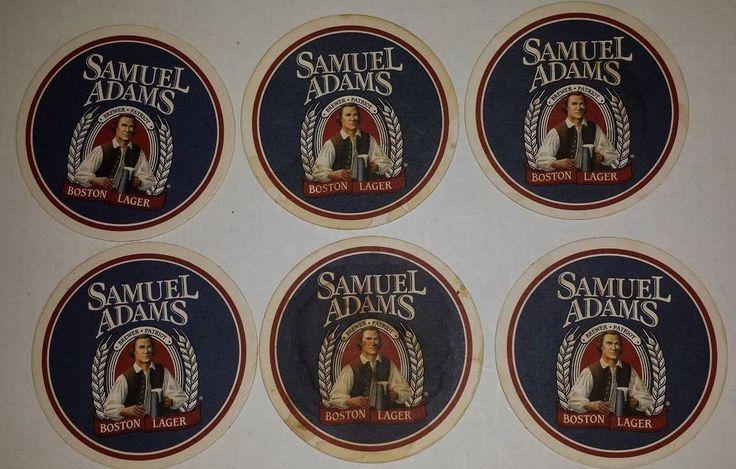 7 VINTAGE SAMUEL ADAMS BOSTON LAGER BREWERY BEER COASTERS
