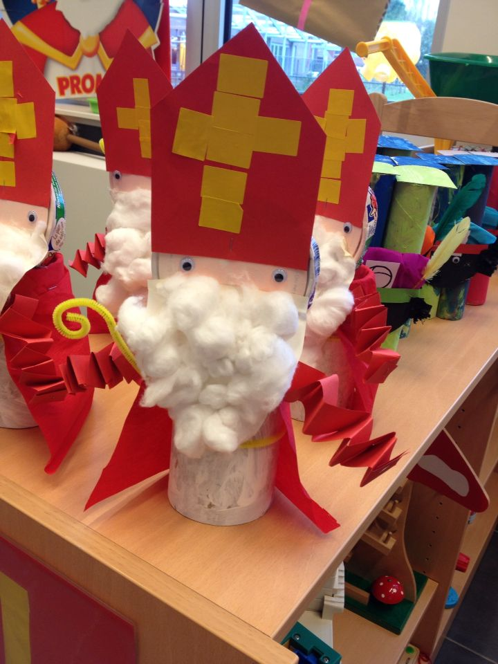 Sinterklaas met kosteloos materiaal