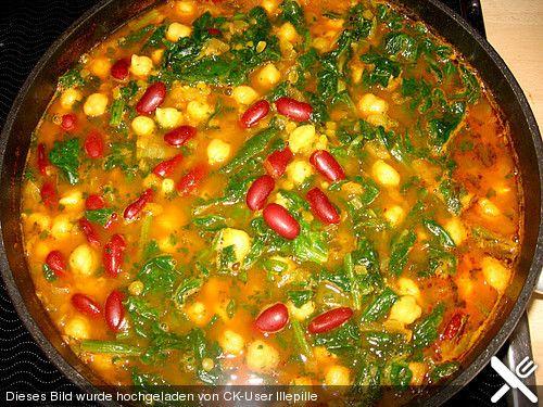 Arabische Kichererbsen-Spinat Suppe, ein gutes Rezept aus der Kategorie Eintopf. Bewertungen: 191. Durchschnitt: Ø 4,3.