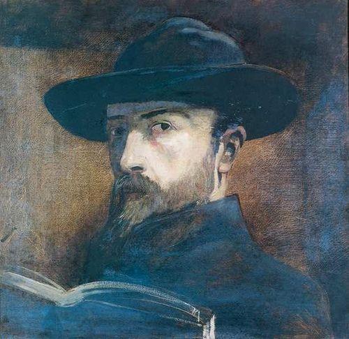 """drrestless: """" Self-Portrait (149): Odilon Redon, Autoportrait au chapeau noir """""""