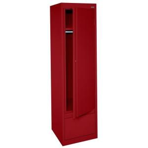 System Series 17 in. W x 64 in. H x 18 in. D Single Door Wardrobe Cabinet with File Drawer in Red, HAWF171864-01 at The Home Depot - Mobile