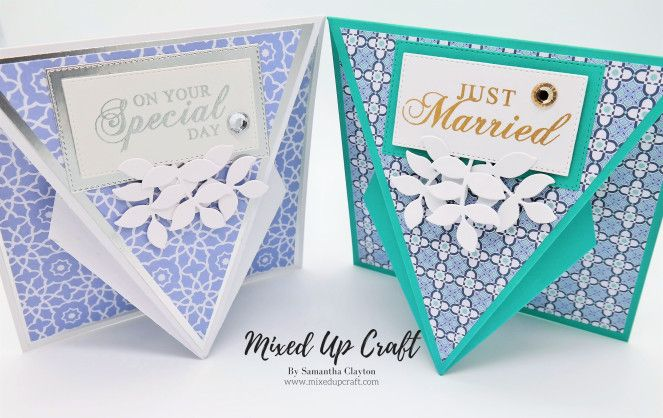 Arrow Fold Card Fancy Fold Card Tutorials Fancy Fold Cards Card Craft