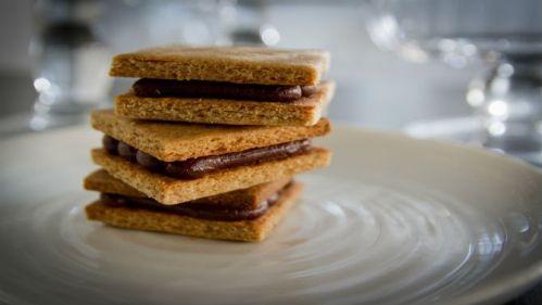 Biscuits Graham, ganache au beurre d'arachide
