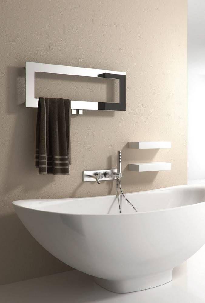 Reina Bivano Stainless Steel Towel Rail 300mm x 800mm