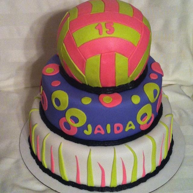 Girls Volleyball Cake Ideas 37525 Volleyball Cake Decorati