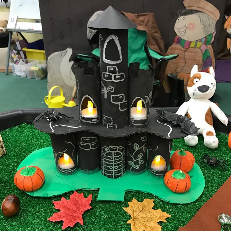 The witches castle from 'Room on the Broom' #EYFS #roleplay #smallworld