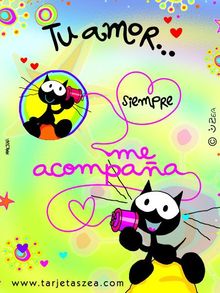 La mejor compañía-Tarjeta de amor-Morfeo© ZEA www.tarjetaszea.com