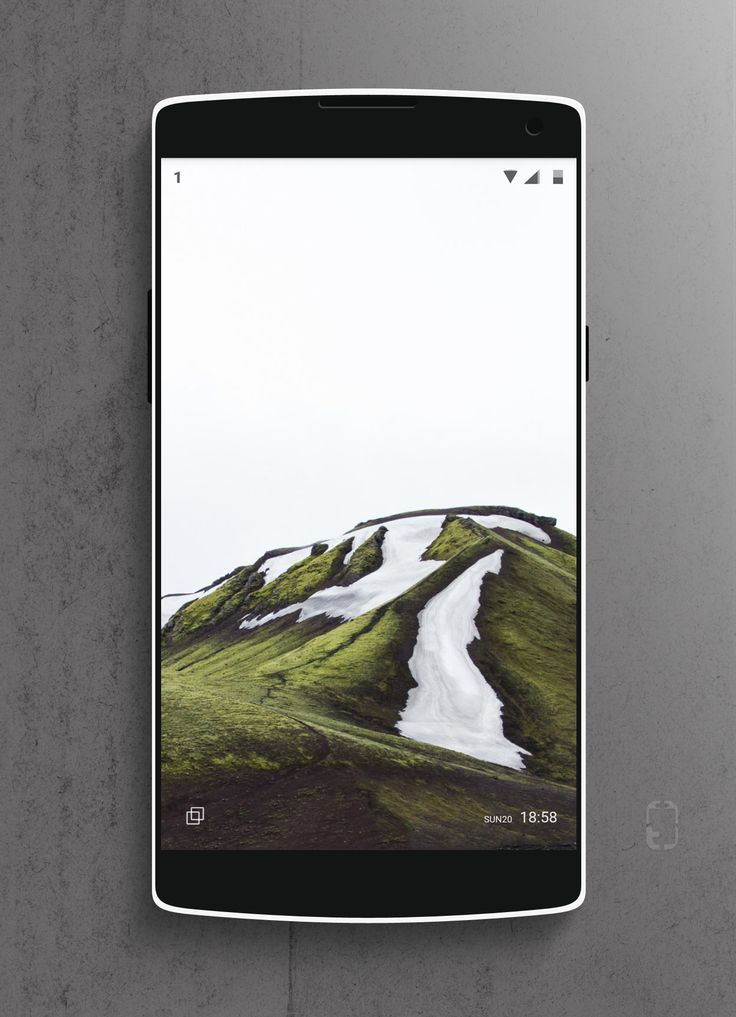 minimal hills Android Homescreen by rabrot - MyColorscreen