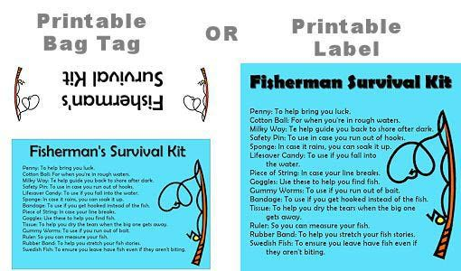 How to make a survival kit for a fisherman funny for Fishing gag gifts