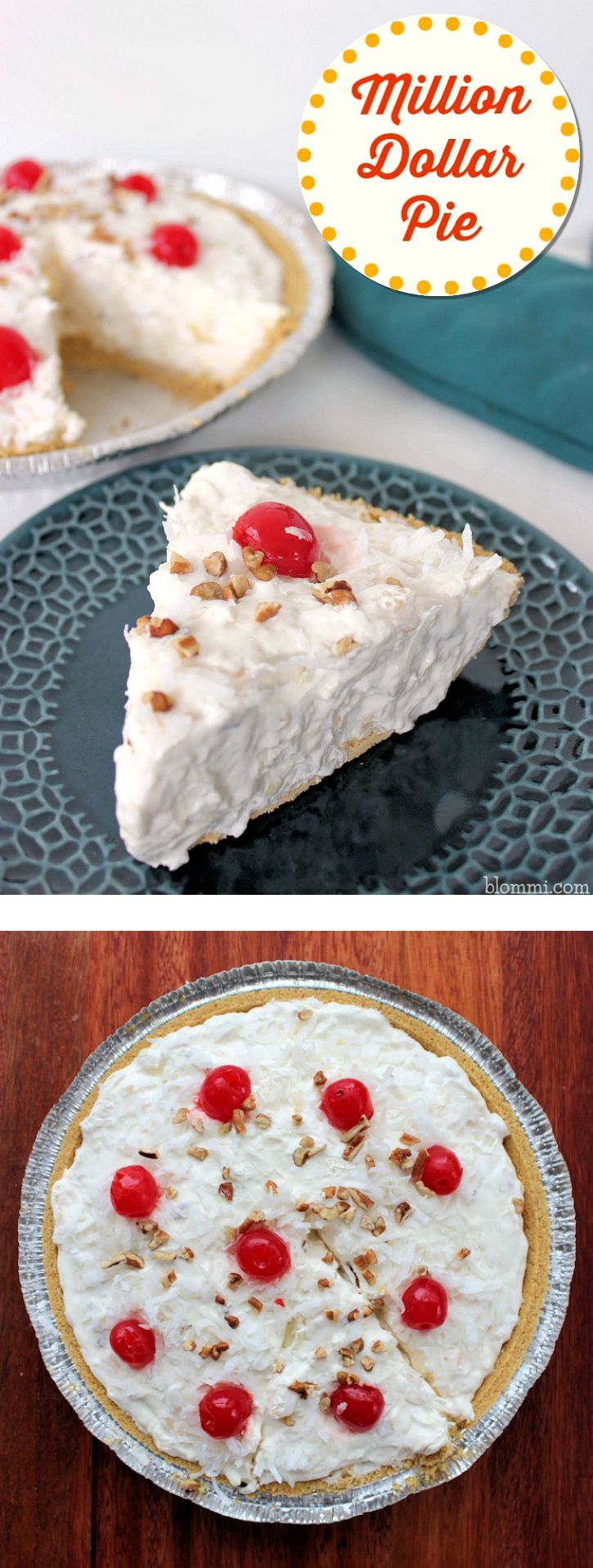 Million Dollar Pie is such a classic recipe, but can be made a few different ways. This is a condensed milk version (some use cream cheese). Not only are there different versions of this pie, but it also goes by the name Millionaire Pie or Millionaire's Pie often as well. No matter what you call …