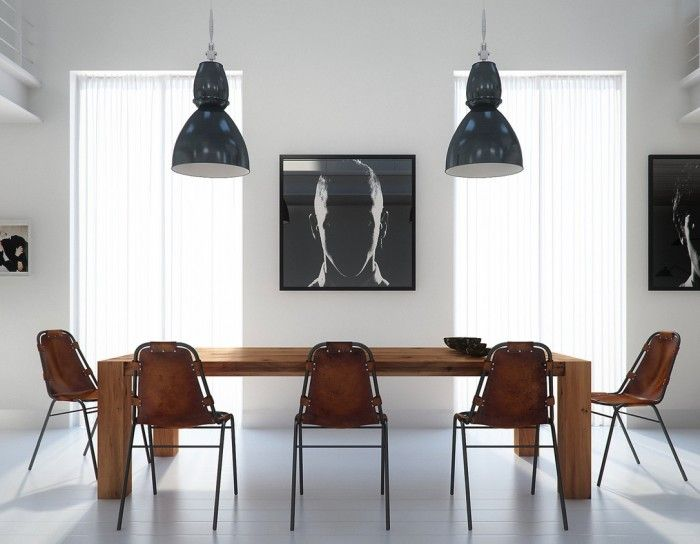 Earthy Dining Black And White Contrast Juan Ferreira With Wooden Dining  Table Set Design Ideas Plan