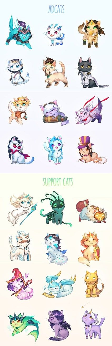 You've Cat To Be Kitten Me Something too cute #lol #leagueoflegends By #arseniclover <3