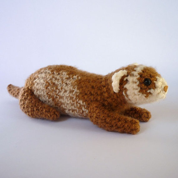 Amigurumi Mushroom House Free Pattern : 17 Best images about 3 knit crochet ferrets on Pinterest ...