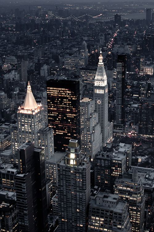 NYC. Lower Manhattan at dusk