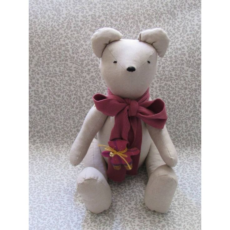 Teddy Bear - Handmade - Gift - Stuffed Animal - Christening - Beige