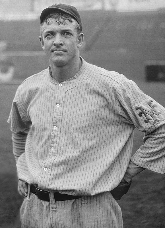 Christy Mathewson - one of the greatest pitchers in the history of baseball. He played before players were babied. In the 1905 World Series, he pitched three complete game shutouts in six days.