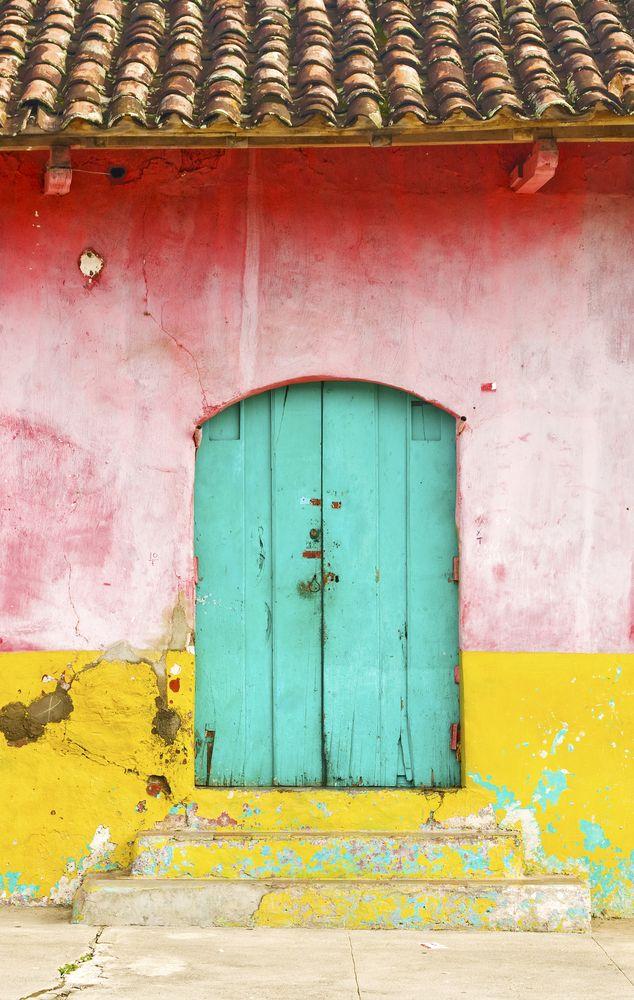 Colorful Door In Nicaragua.