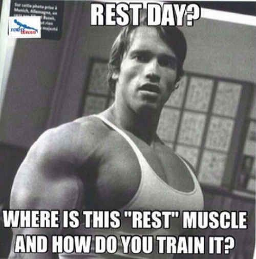 And taking rest days actually turns out to be the worst.