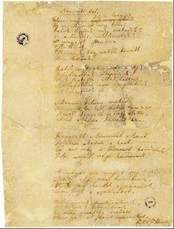 A Nemzeti dal kézirata