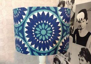 Handmade lampshades 60's vintage retro blue 30cm   eBay
