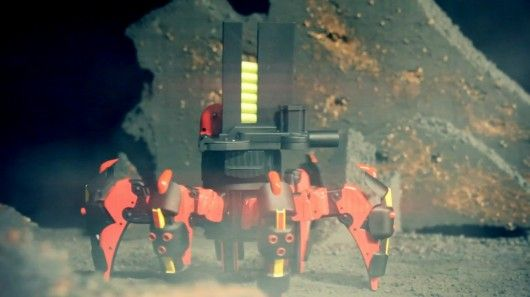 """""""the greatest toy in the universe"""" - battling six leg robot"""