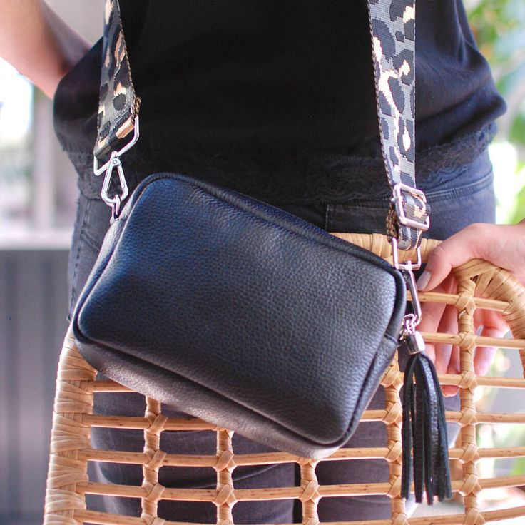 Personalised Leather Crossbody Bag With Patterned Strap in 2021 | Leather crossbody  bag small, Leather crossbody, Crossbody bag