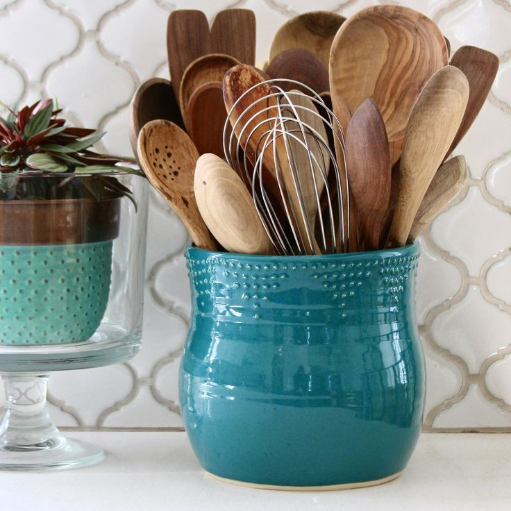 Hand Made Green Spoon Rest-Handthrown Stoneware kitchenware-Copper Green Housewarming Gift