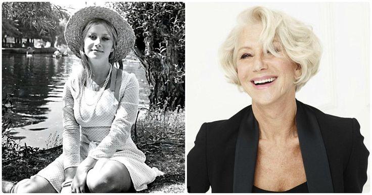 Helen Mirren - Tiene un Óscar como mejor actriz y ha hecho muchas películas, pero en su juventud era muy hermosa, incluso posó desnuda.