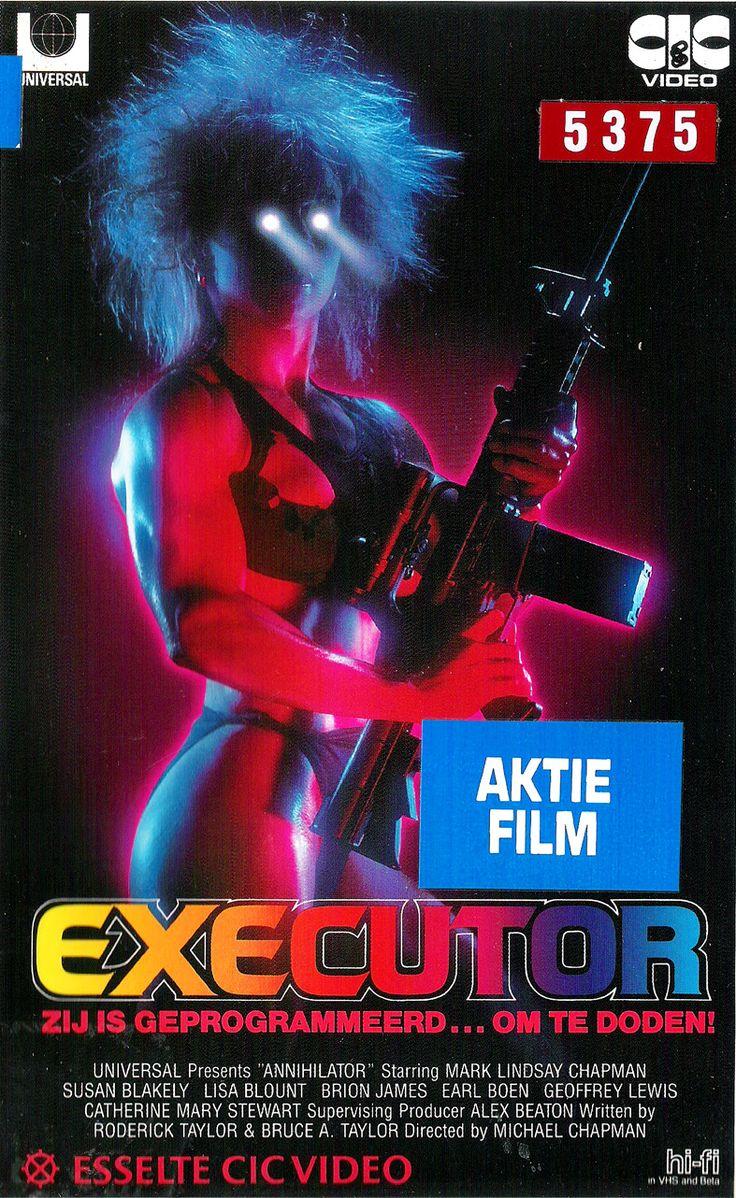 80s poster design - Annihilator Aka Executor 1986 Dutch Vhs Cover Art 80s Retro