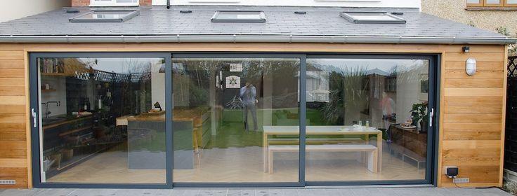 Image result for kitchen extension sliding glass doors