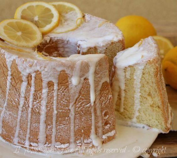 Ciambellone americano al limone | Ricetta chiffon cake fluffosa