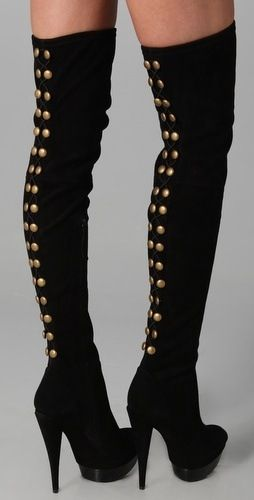 Styles Of Thigh High Boots - studded thigh high boots #ThighHighBoots #HighBoots