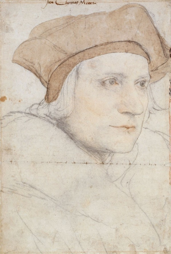 Sketch portrait of Thomas Moore by Hans Holbein the Younger