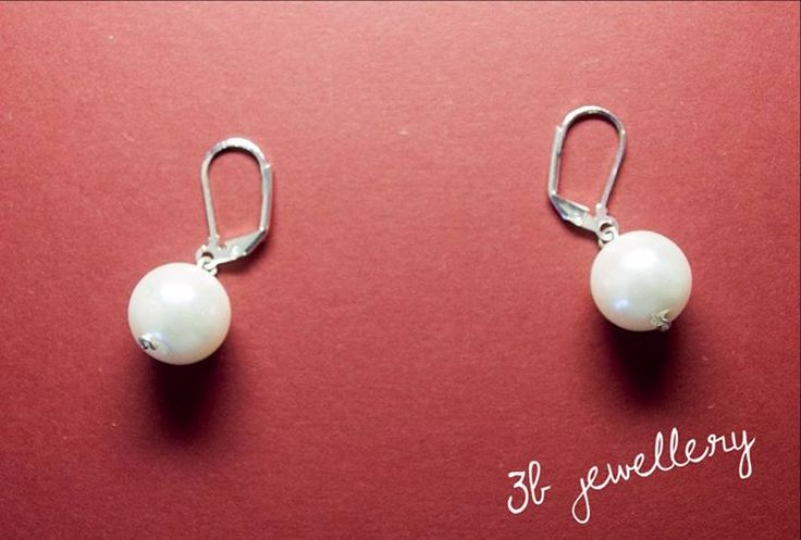 #simple #white #earrings for every day #3bjewellery #wirewrapping #beginner